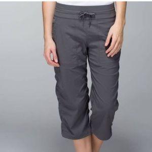 Lululemon Studio Crop Dance Pant Gray Elastic Hem
